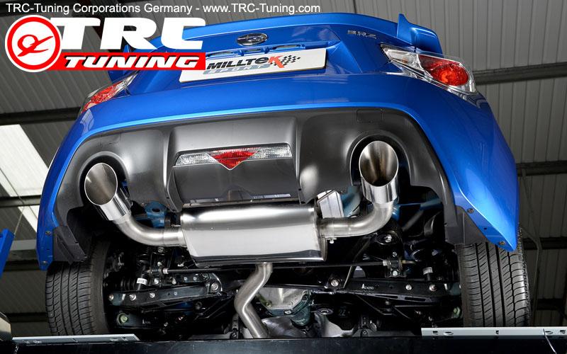 subaru brz polished exhaust tips