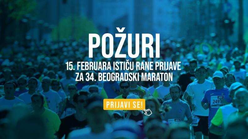 prijave za beogradski maraton prijave