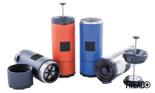 Planetary Design's The OVRLNDR Press comes in a variety of colors like orange, silver, and blue.