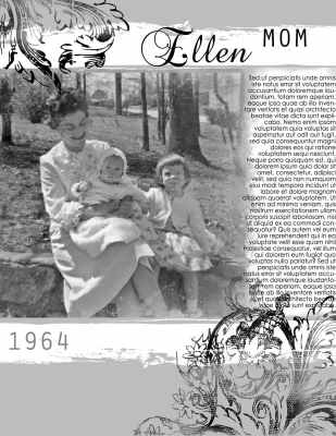a family story template I used for a story about my mom