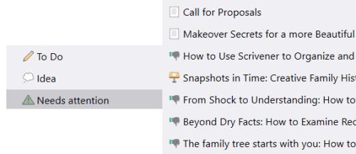 Scrivener 3 custom Icons