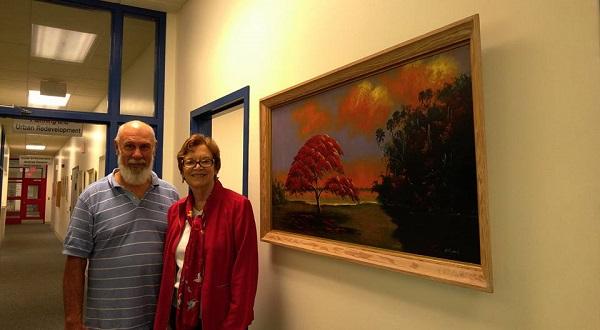 Highwaymen Exhibit, Linda Hudson and Matt Samuel