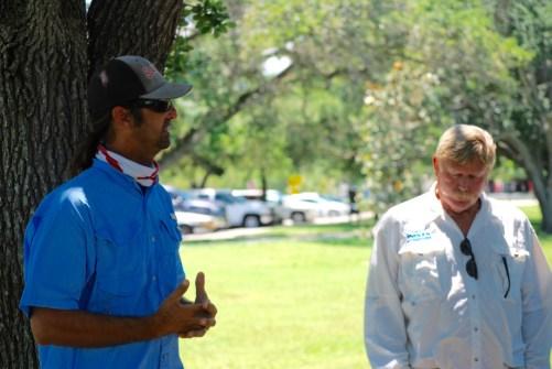 Captain Alex Gorichky and Indian RIverkeeper Marty Baum