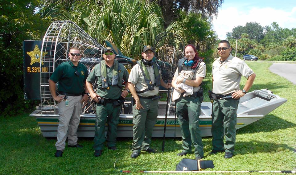 BREVARD COUNTY SHERIFF'S RESCUE DISTRESSED DOG FROM WATER