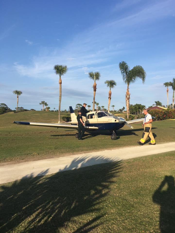 Airplane lands on Martin County golf course