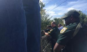 MC Suspect ends up in Alligator infested water