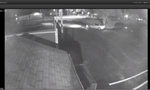 Surveillance video of violent home invasion