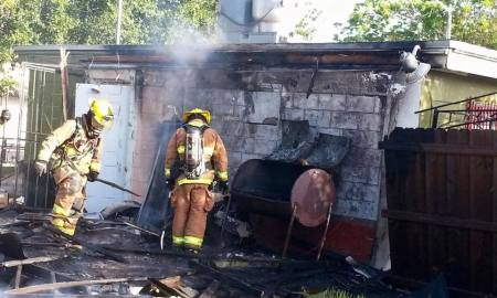 Fire at diner sparked by grill.