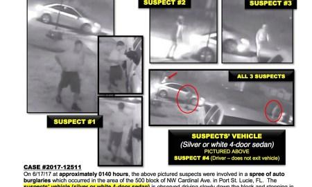 PSL Police asking public's help to ID Car burglars