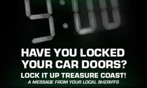 Local Sheriff's remind you to lock your doors.