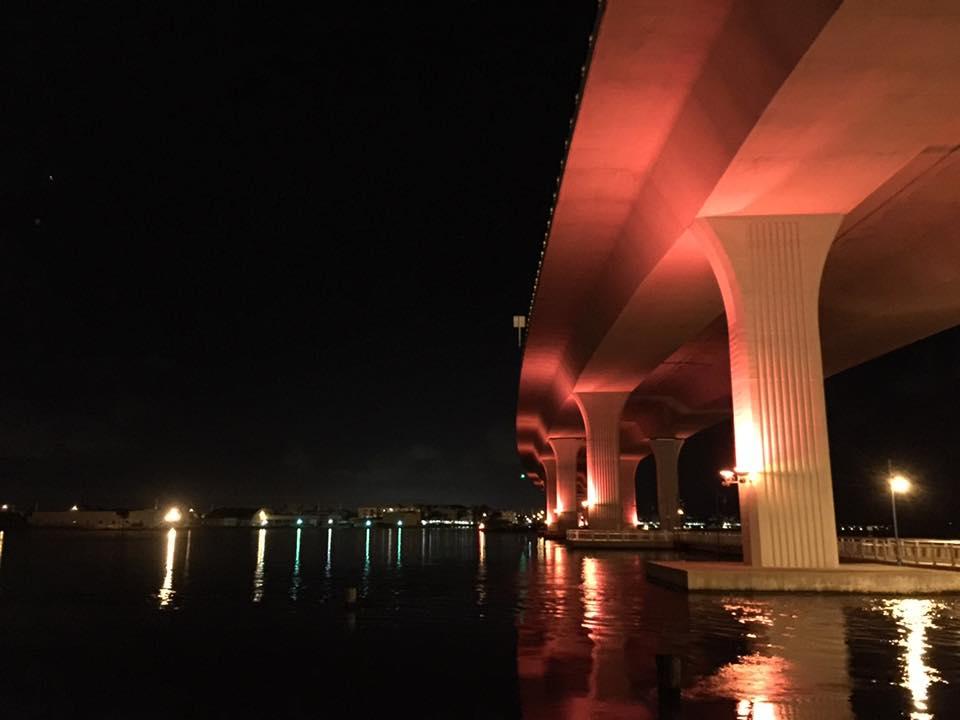 Roosevelt Bridge goes Pink