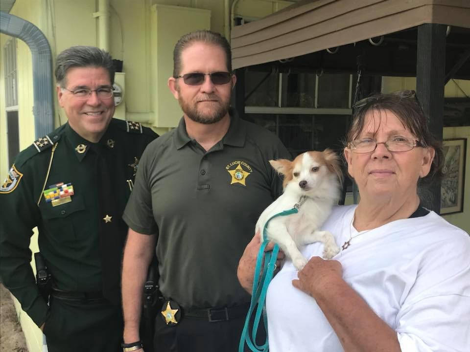 St Lucie Sheriff returns stolen dog to owner