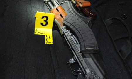 Search warrant results in guns, drugs, and arrest of five time convicted felon.