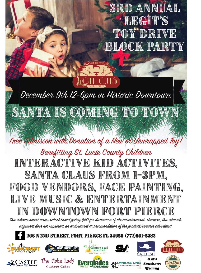 Santa S On His Way 3rd Annual Toy Drive Block Party Dec 9