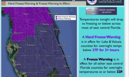 Hard Freeze Warning & Freeze Warning in effect tonight