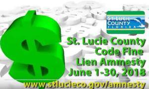 St Lucie County offering amnesty and reduction in liens