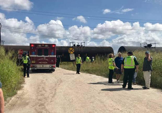 Possible fatality after train hits dump truck in St  Lucie County