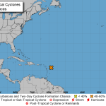Tropical disturbance pops up in Atlantic