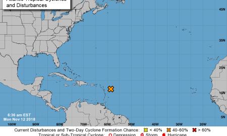 Tropical disturbance pops up in Atlantic