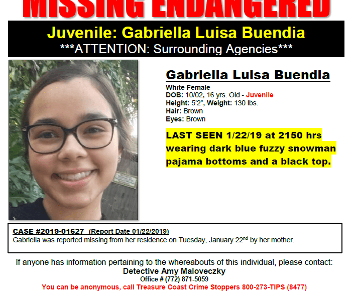 16 year old missing/runaway girl