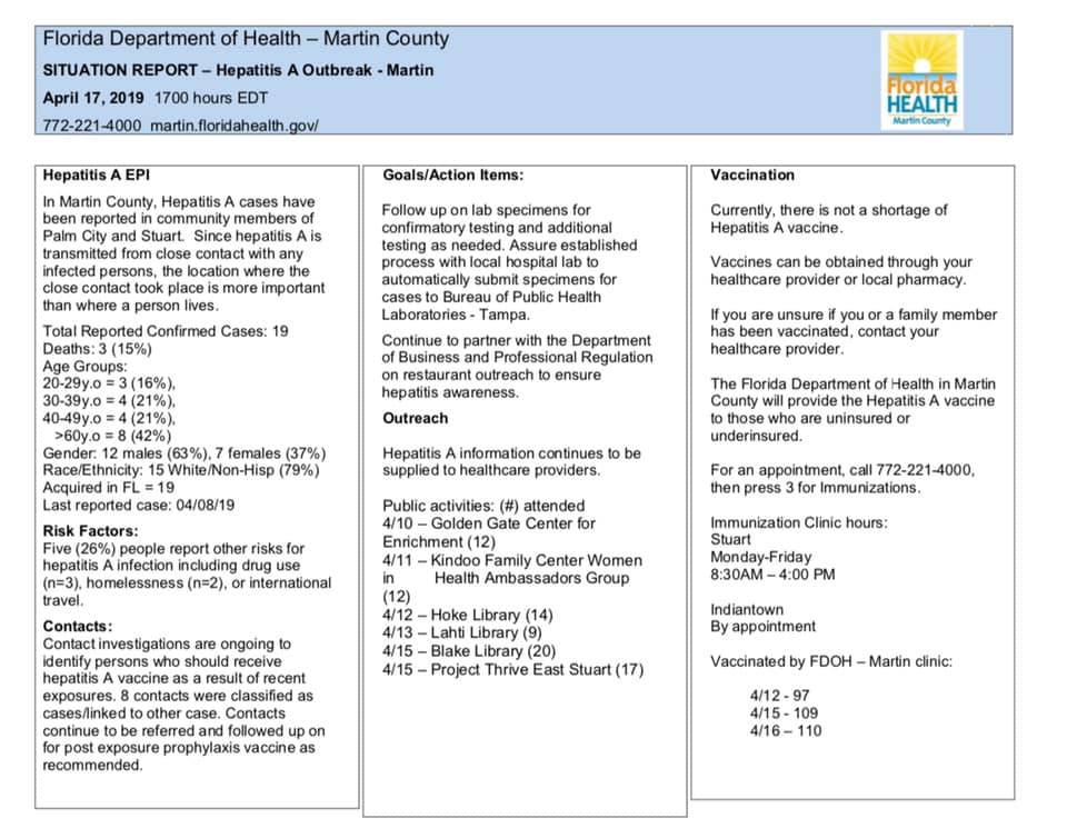 Elected Officials release more info about Hep A