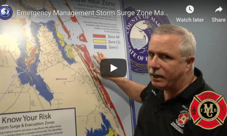 Martin County Emergency Management Storm Surge Zone Map 2019