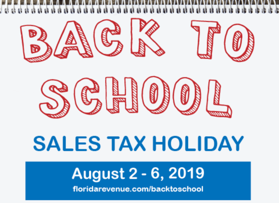 Florida's Back To School Sales Tax Holiday starts Friday