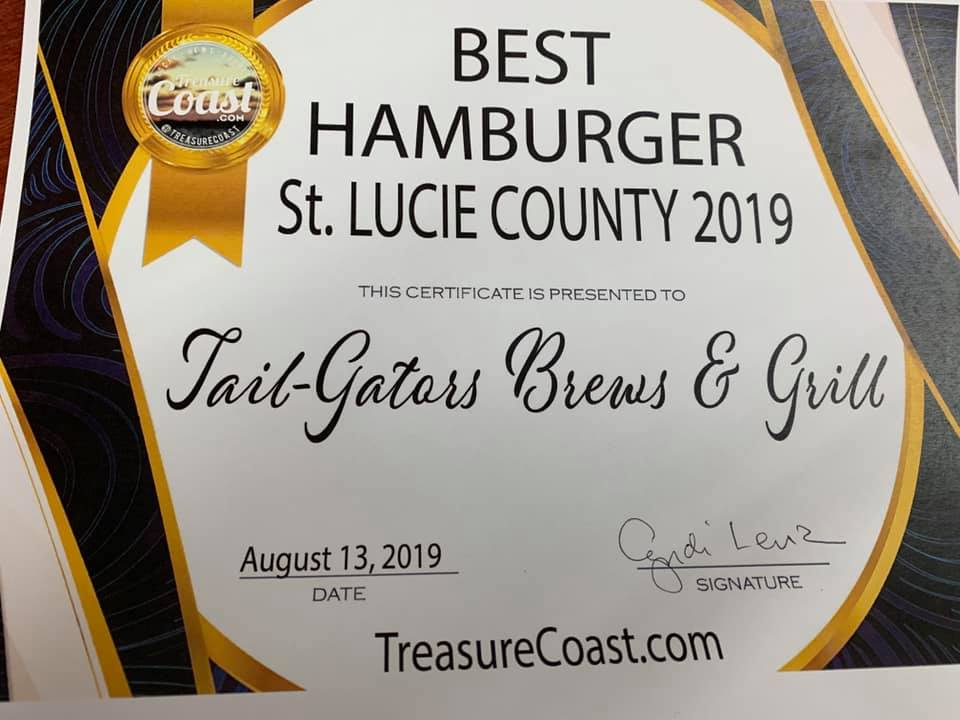 Best of the Best: Best Hamburger St Lucie County: Tail-Gators Brews & Grill
