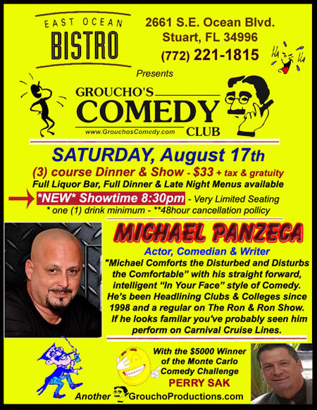 MICHAEL PANZECA Actor Comedian and Writer