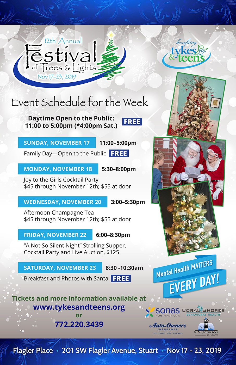 Festival of Trees & Lights Begins November 17th in Downtown Stuart