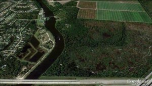 C-44 canal Google Earth with St Lucie Locks and Dam. (Todd Thurlow Google Earth)