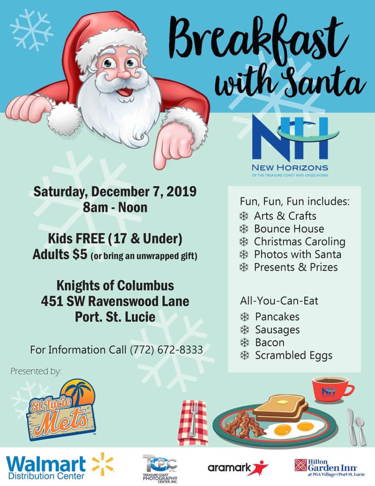 Breakfast with Santa Coming to Port St. Lucie December 7
