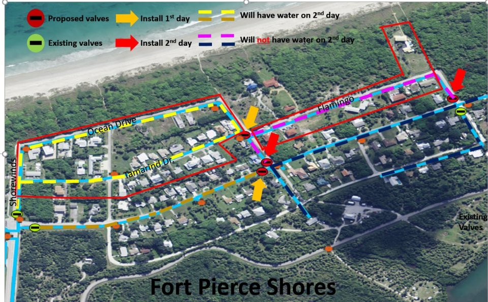 Water will temporarily be shut off in Fort Pierce Shores on Dec 18