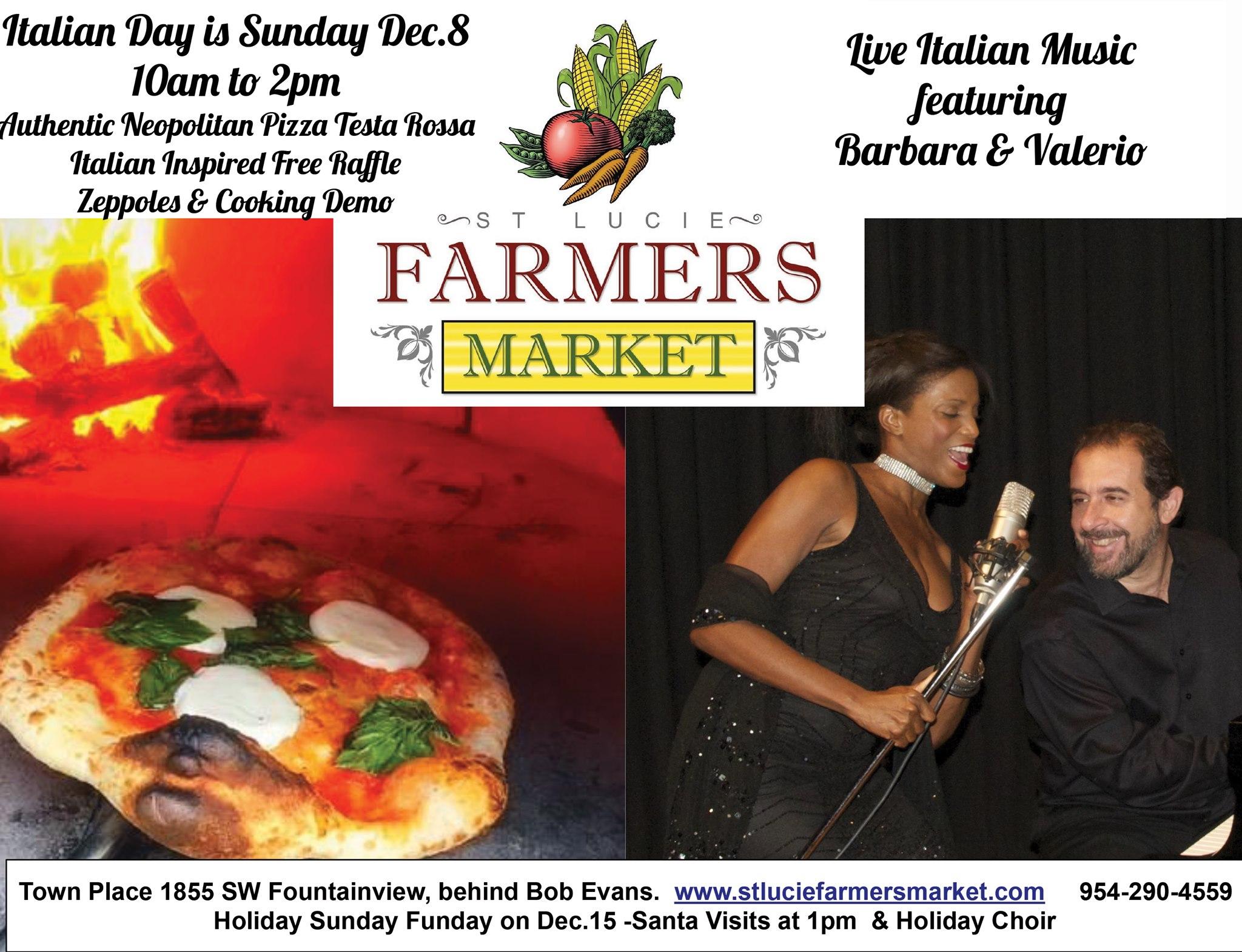 Italian Day Sunday at St Lucie Farmers Market