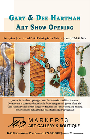 Gary & Dee Hartman Art Show Opening at Marker 23 Gallery