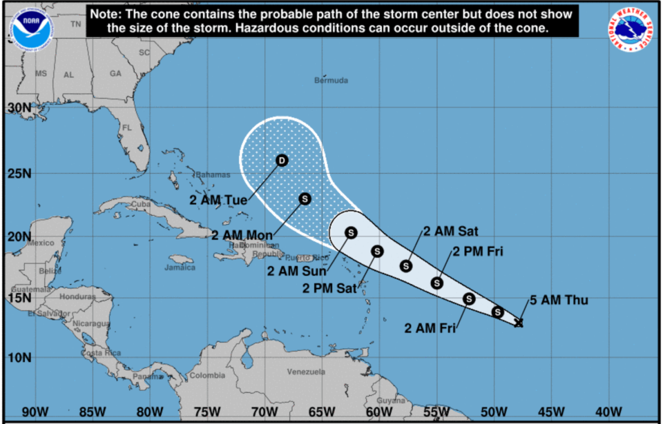 Tropical Storm Josephine expected to form today