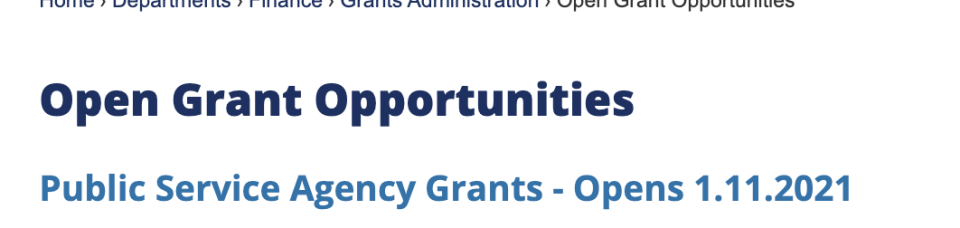 City of Fort Pierce Announces Public Service Grant Opportunity