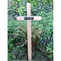 Large Wooden Grave Marker Cross