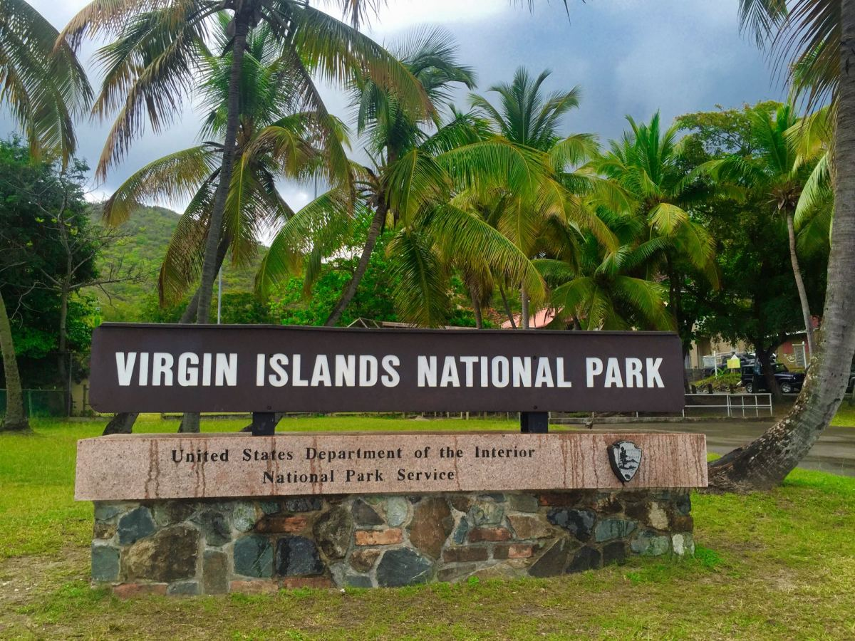 Virgin Islands National Park entrance sign