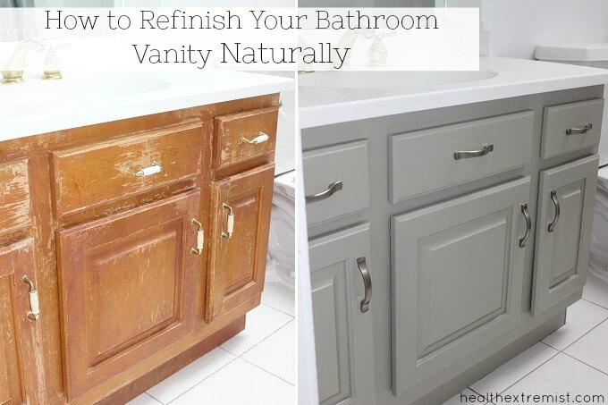 how to refinish bathroom vanity sink