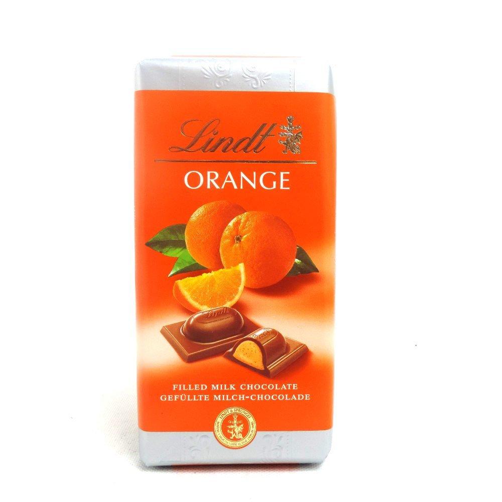Lindt Orange Chocolate Bar 100g Treasure Island Sweets