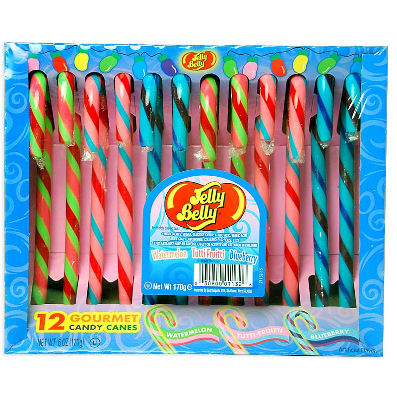 Jelly Belly Candy Canes Pack Of 12 Treasure Island Sweets