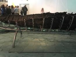 Wooden Preserved Fishing Boat from Jesus' Time