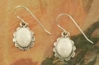 White Buffalo Turquoise Earrings: Treasures of the Southwest