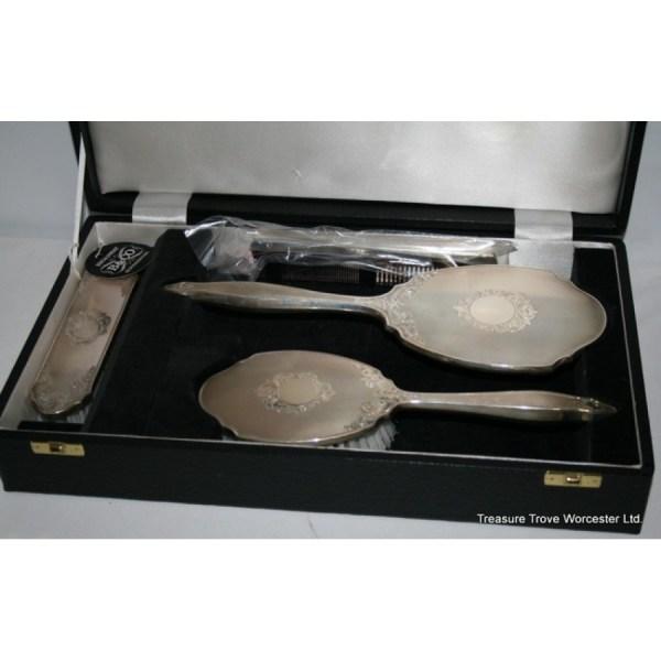 Broadway & Cased Unused Sterling Silver Vanity Set