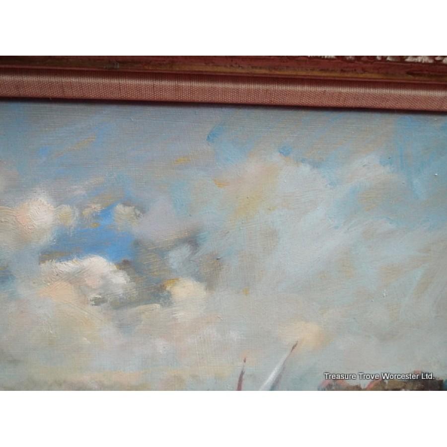David Hyde 20th century Oil Landscape