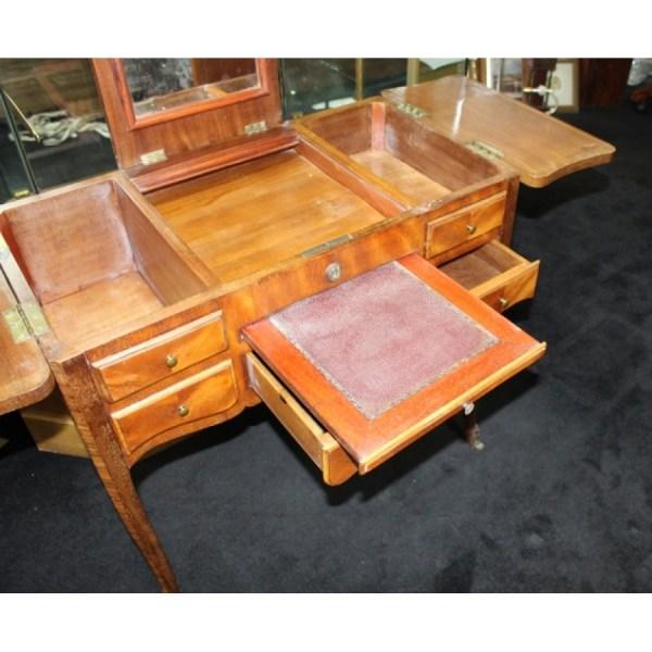 Inlaid Ladies Vanity Writing Table Desk