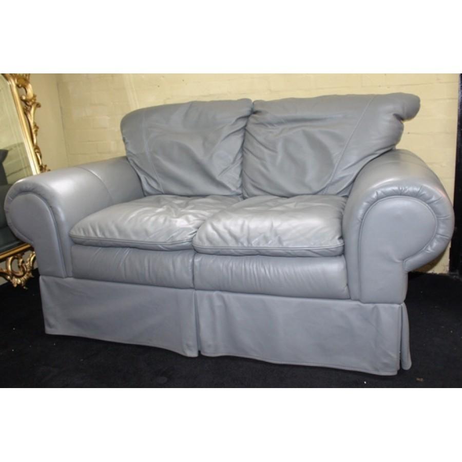 sage leather sofa austin texas two seater green pouffe ottoman