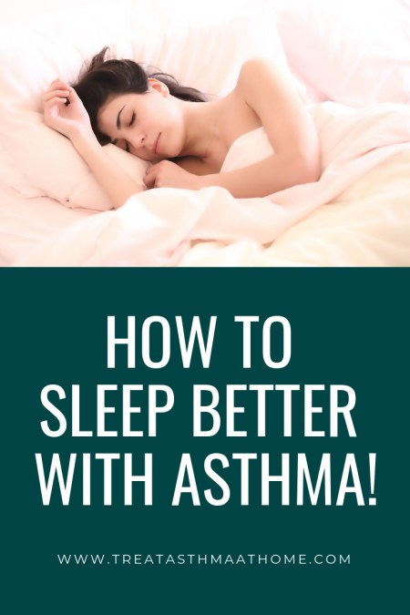 treating asthma symptoms at night pinterest graphic