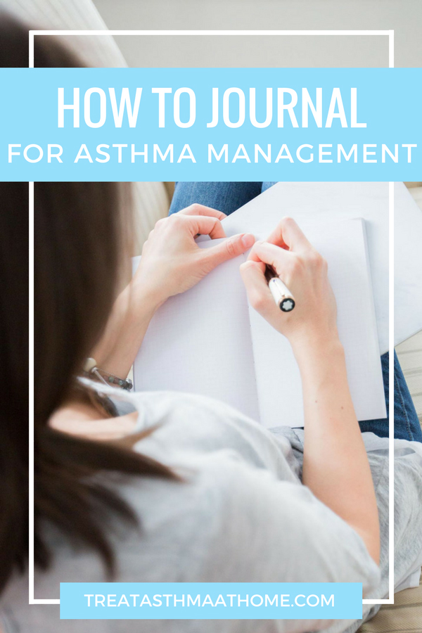 how-to-journal-for-asthma-relief pinterest graphic
